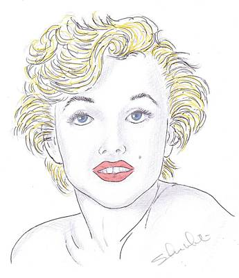 Steven White Drawing - Marilyn by Steven White