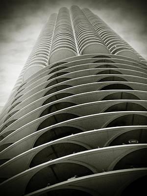 Marina City Chicago Il Print by Christine Till