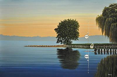 Marina Morning Original by Kenneth M  Kirsch