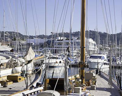 Marina On French Riviera Print by Tony Moran