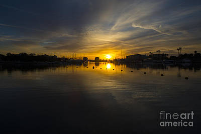 Marina Del Rey Photograph - Marina Sunrise  by Rob Hawkins