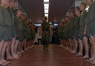 Marine Basic Training Print by Mountain Dreams
