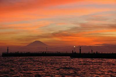 Fuji Photograph - Marine Day Sky by Aaron S Bedell