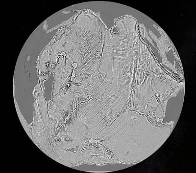 Marine Gravity Map Print by Esa