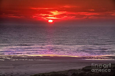 Marine Sunset Print by Robert Bales