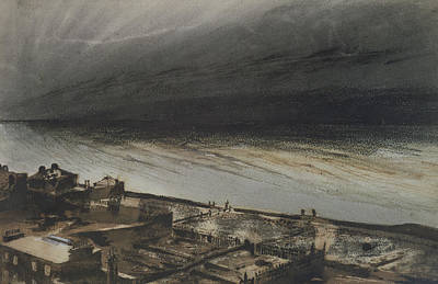 Coastal Drawing - Marine Terrace In Jersey by Victor Hugo