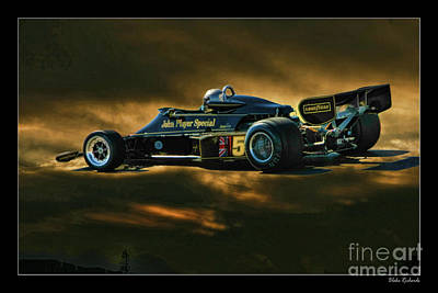 Andretti Photograph - Mario Andretti John Player Special Lotus 79  by Blake Richards