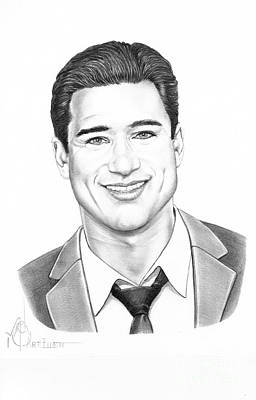 Lopez Drawing - Mario Lopez by Murphy Elliott