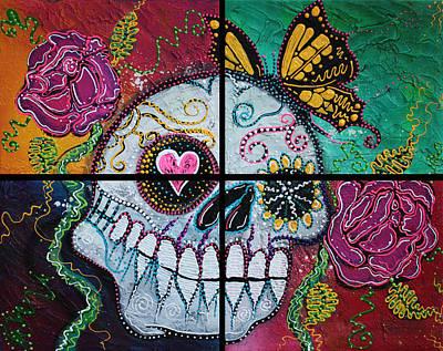 Folk Painting - Mariposa - A Spirit Returns by Laura Barbosa