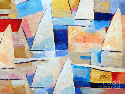 Colorfields Painting - Maritime Regatta by Lutz Baar