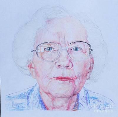 Prime Mixed Media - Marjorie's Portrait by PainterArtist FINs husband Maestro