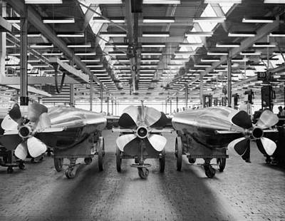 Factory Photograph - Mark 15 Torpedo Factory by Underwood Archives