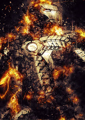 Iron Man Digital Art - Mark 42 Fury by Renato Armignacco