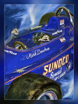 Mark Donohue 1972 Indy 500 Winning Car Print by Blake Richards