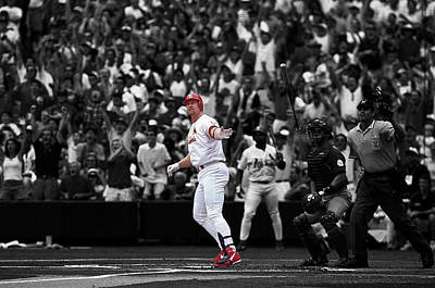 Mark Mcgwire Print by Brian Reaves