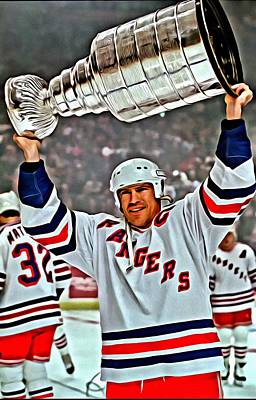 Vancouver Canucks Photograph - Mark Messier by Florian Rodarte