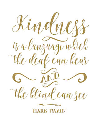 Kindness Painting - Mark Twain Kindness by Tara Moss