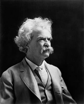 Mark Twain Print by Library Of Congress