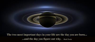 The Universe Digital Art - Mark Twain Quote by NASA Image
