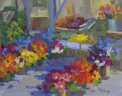 Grocery Stores Painting - Market Day by Diane McClary