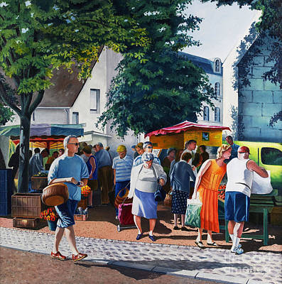 Market Day In France Original by Christian Simonian