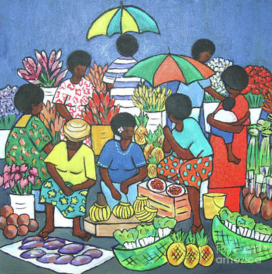 Heliconia Painting - Market Flowers IIi by Karen Bower