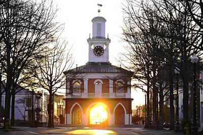 Observer Photograph - Market House Sunrise - Fayetteville - January 29 2015 by Matt Plyler