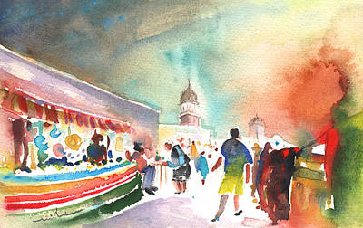 Lanzarote Painting - Market In Teguise In Lanzarote 06 by Miki De Goodaboom