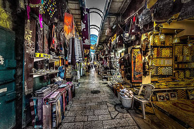 Jesus Photograph - Market In The Old City Of Jerusalem by David Morefield