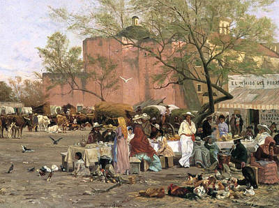 Market Plaza Print by Thomas Allen