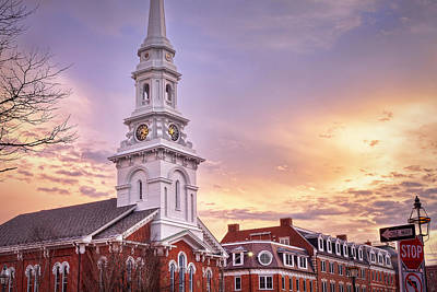 Market Square Rooftops Print by Eric Gendron
