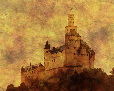Marksburg Castle In The Rhine River Valley Print by Greg Matchick
