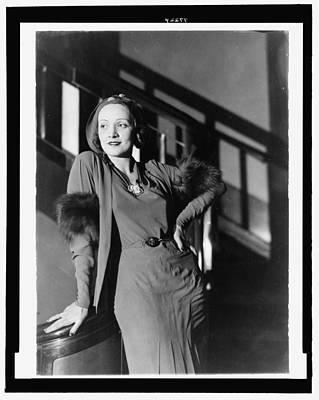 Marlene Dietrich Print by Georgia Fowler
