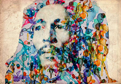 Rasta Painting - Marley 2 by Bekim Art