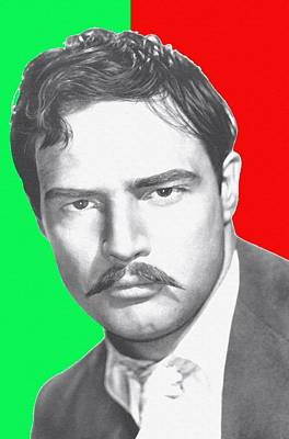 Marlon Brando In Viva Zapata Print by Art Cinema Gallery
