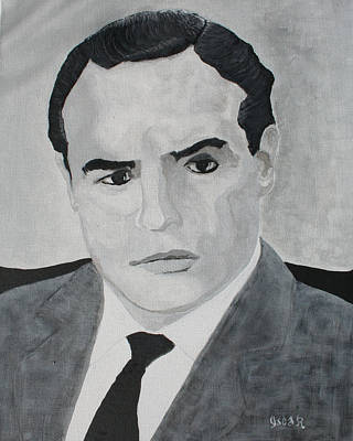 Painting - Marlon Brando by Oscar Penalber