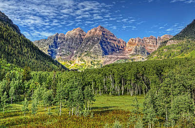 Famous Er Photograph - Maroon Bells Valley by Ken Smith