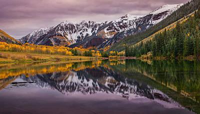 Colorado Mountains Photograph - Maroon Lake by Darren  White