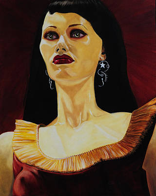 Gold Earrings Painting - Maroon Mannequin by Clay Coyle