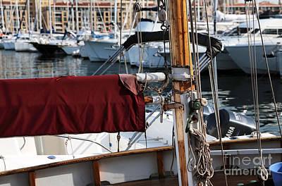 Maroon Sail  Print by John Rizzuto