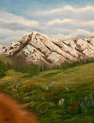 Maroon Trail Splendor Print by Sheri Keith