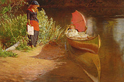 Tranquil Painting - Marooned by Edward John Gregory