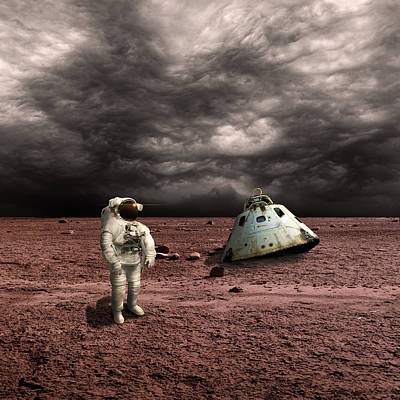 Exoplanet Mixed Media - Marooned No.3  by Marc Ward