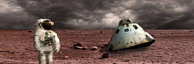Exoplanet Mixed Media - Marooned No.3pano by Marc Ward
