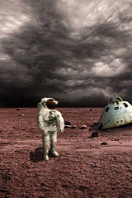 Exoplanet Mixed Media - Marooned No.3v by Marc Ward