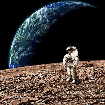Exoplanet Mixed Media - Marooned No.4b  by Marc Ward