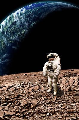 Exoplanet Mixed Media - Marooned No.4bv  by Marc Ward