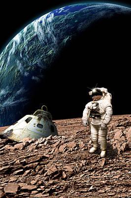 Exoplanet Mixed Media - Marooned No.4v by Marc Ward