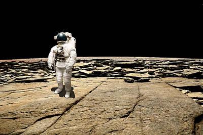 Exoplanet Mixed Media - Marooned No.5b by Marc Ward
