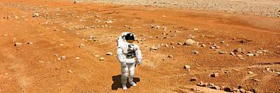 Exoplanet Mixed Media - Marooned No.6pano by Marc Ward